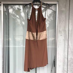 81cd3b391ed bebe Dresses - Bebe Cutout Plunge Neck Mocha Cocktail Dress S